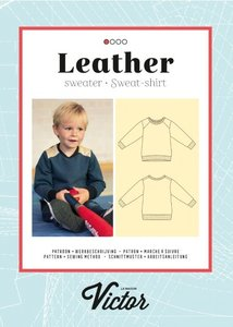 La Maison Victor patroon Leather Sweater